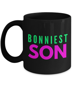 Bonniest Son - Family Gag Gifts For Mom or Dad Birthday Father or Mother Day -   11oz Coffee Mug - Ribbon Canyon