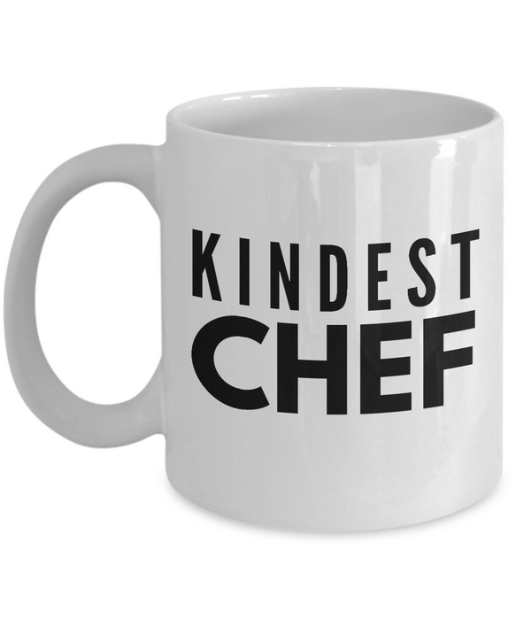 Kindest Chef - Birthday Retirement or Thank you Gift Idea -   11oz Coffee Mug - Ribbon Canyon