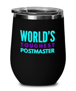 World's Toughest Postmaster Insulated 12oz Stemless Wine Glass - Ribbon Canyon
