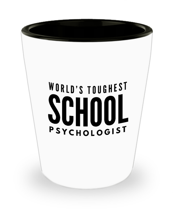 Friend Leaving Novelty Short Glass for School Psychologist