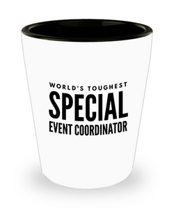 Friend Leaving Novelty Short Glass for Special Event Coordinator