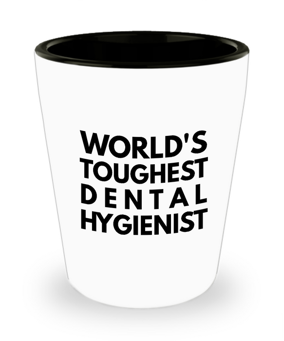 Friend Leaving Novelty Short Glass for Dental Hygienist