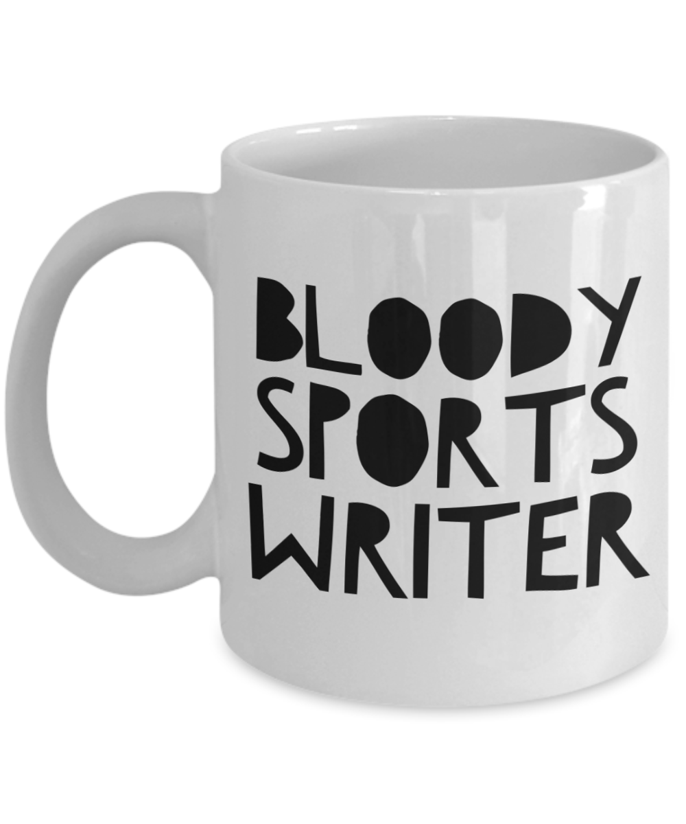Bloody Sports Writer Gag Gift for Coworker Boss Retirement or Birthday - Ribbon Canyon