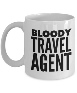 Bloody Travel Agent Gag Gift for Coworker Boss Retirement or Birthday - Ribbon Canyon