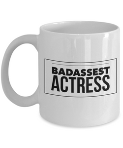 Badassest Actress Gag Gift for Coworker Boss Retirement or Birthday - Ribbon Canyon