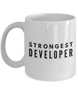 Strongest Developer - Birthday Retirement or Thank you Gift Idea -   11oz Coffee Mug - Ribbon Canyon