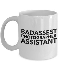 Badassest Photographer Assistant, 11oz Coffee Mug Gag Gift for Coworker Boss Retirement or Birthday - Ribbon Canyon