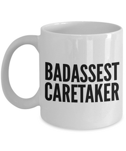 Badassest Caretaker, 11oz Coffee Mug Best Inspirational Gifts - Ribbon Canyon
