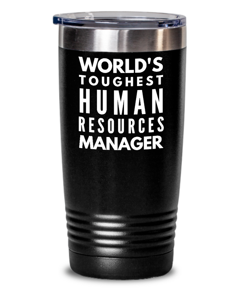 Human Resources Manager - Novelty Gift White Print 20oz. Stainless Tumblers - Ribbon Canyon