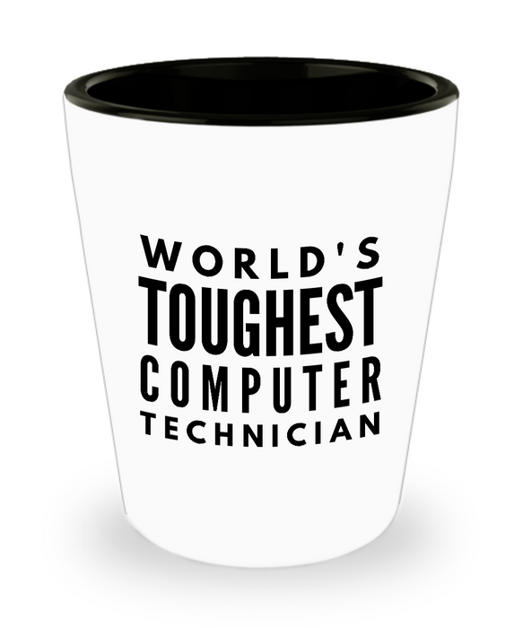 Friend Leaving Novelty Short Glass for Computer Technician
