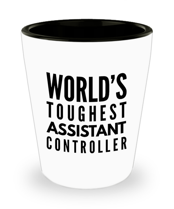 Friend Leaving Novelty Short Glass for Assistant Controller