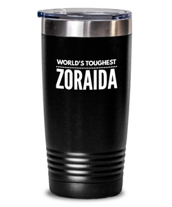 #GB Tumbler White NAME 5160 World's Toughest ZORAIDA