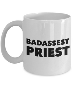 Badassest Priest  11oz Coffee Mug Best Inspirational Gifts - Ribbon Canyon