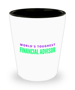 Creative Financial Advisor Short Glass - Ribbon Canyon