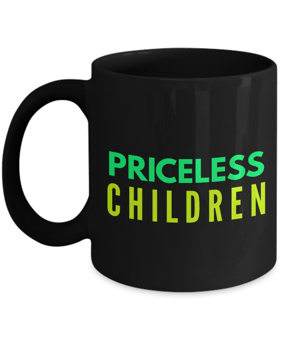 Priceless Children - Family Gag Gifts For Mom or Dad Birthday Father or Mother Day -   11oz Coffee Mug - Ribbon Canyon