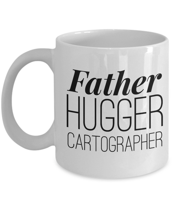 Father Hugger Cartographer Gag Gift for Coworker Boss Retirement or Birthday - Ribbon Canyon