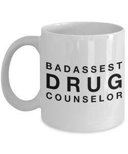 Badassest Drug Counselor Gag Gift for Coworker Boss Retirement or Birthday - Ribbon Canyon
