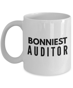 Bonniest Auditor - Birthday Retirement or Thank you Gift Idea -   11oz Coffee Mug - Ribbon Canyon