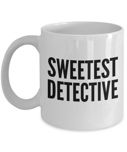 Sweetest Detective - Birthday Retirement or Thank you Gift Idea -   11oz Coffee Mug - Ribbon Canyon
