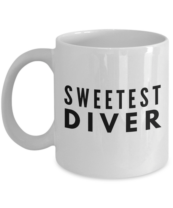 Sweetest Diver - Birthday Retirement or Thank you Gift Idea -   11oz Coffee Mug - Ribbon Canyon