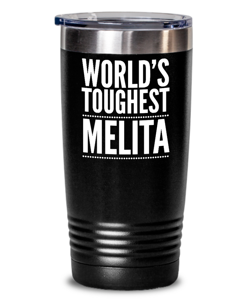 #GB Tumbler White NAME 3452 World's Toughest MELITA