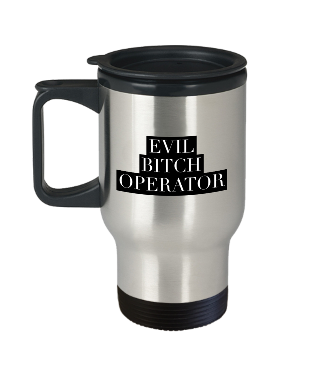 Funny Mug Evil Bitch Operator Gag Gift for Coworker Boss Retirement or Birthday - Ribbon Canyon