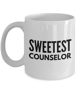 Sweetest Counselor - Birthday Retirement or Thank you Gift Idea -   11oz Coffee Mug - Ribbon Canyon