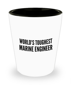 Friend Leaving Novelty Short Glass for Marine Engineer