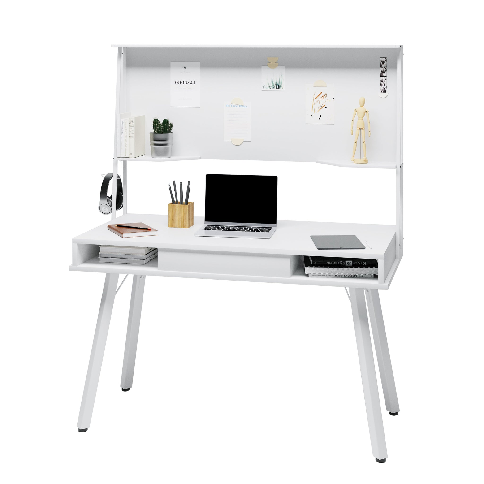 Techni Mobili Study Computer Desk With Storage Magnetic Dry Erase Wh Quality Desks