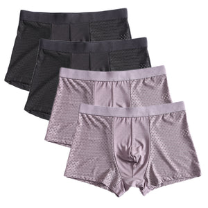4pcs/lot Bamboo Fiber Men's Boxer Pantie Underpant plus size XXXXL large size shorts breathable underwear 5XL 6XL 7XL 8XL