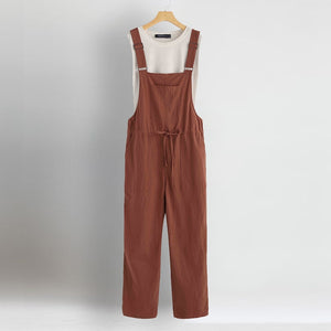 Plus Size Linen Overall Women's Jumpsuits ZANZEA 2019 Casual Drawstring Rompers Female Strap Playsuits Woman Pantalon Palazzo