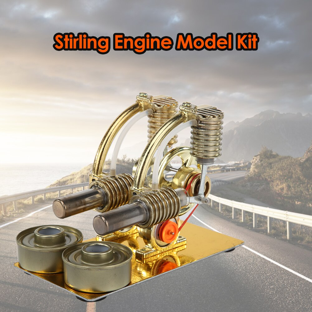 Balance L Type Stirling Engine Miniature Steam Power Technology Educational Scientific Model for School Students Ornament