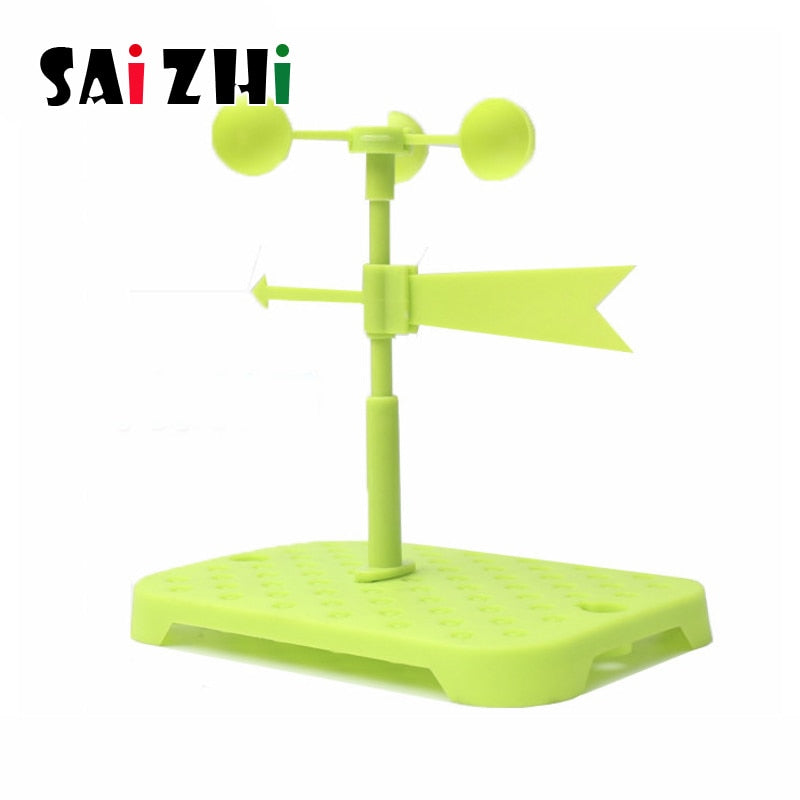 Saizhi Homemade Wind Vane Experiment Kit Direction Scientific Model For Children Diy Technology Small Invention Educational Toys