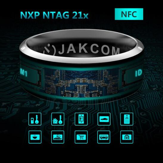 Original Smart Ring Wear Jakcom R3 R3F MJ02 New Technology Magic Finger NFC Ring for Android Windows NFC Mobile Phone
