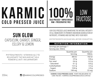 Information On Sun Glow Juice