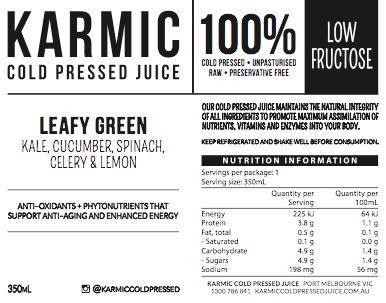 Information On Leafy Green Juice Blend