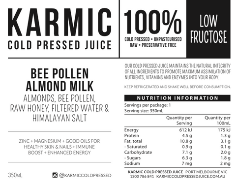 Information On Bee Pollen Almond Milk