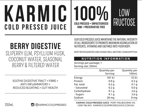 Information On Berry Digestive Juice