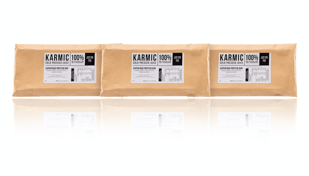 3 * Organic Protein Bars - KARMIC Cold Pressed Juice