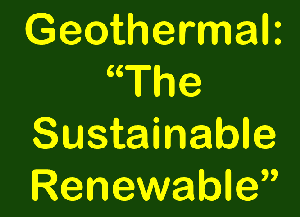 Sustainable Renewable