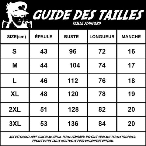 guide des tailles standard