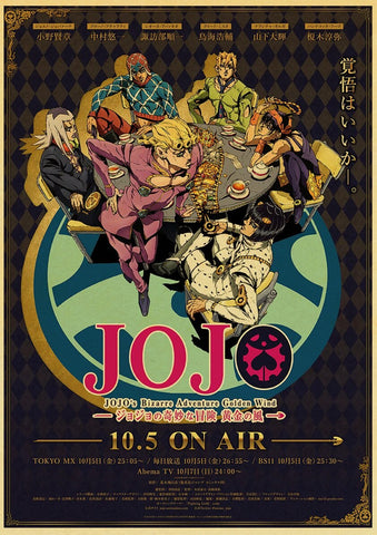 JOJO Golden Wind Poster