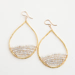 gold teardrops in sea salt, large