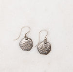 sterling silver and diamond hexagon earrings