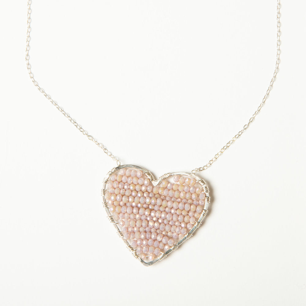 CH x CG luminous love necklace in silver