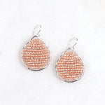 silver teardrops + rose gold beads, small