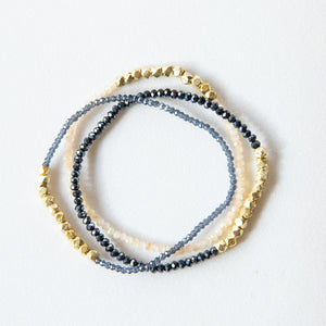 gold nugget bracelet in blush