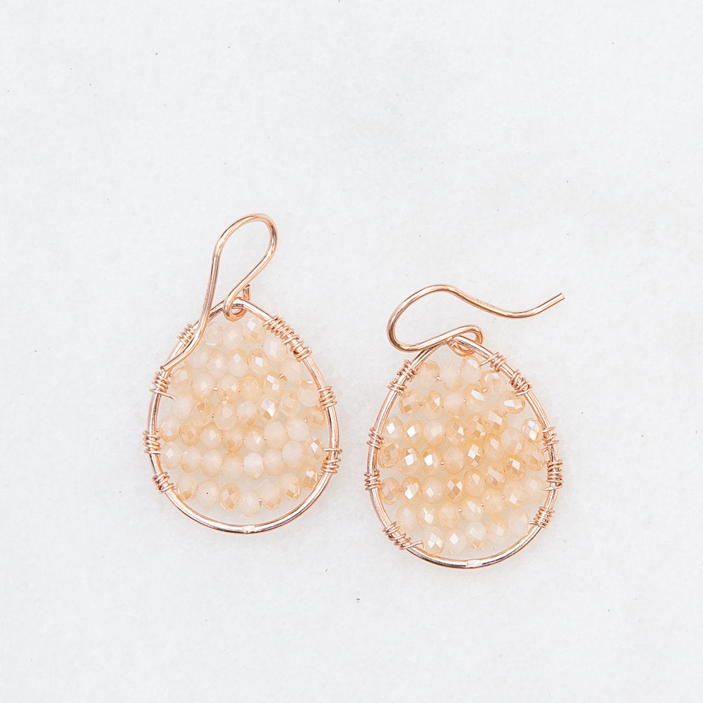 Load image into Gallery viewer, rose gold teardrop in blush