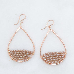 rose gold teardrops in rosewood, medium