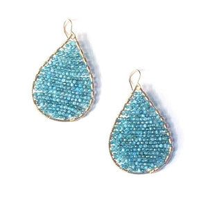 Load image into Gallery viewer, Gold teardrops in apatite, medium